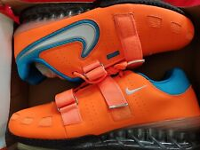 Nike romaleos 2 Size 12 Men Orange blue weightlifting Powerlifting CrossFit NEW