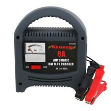 HEAVY DUTY 6A AMP 12V 6V BATTERY CHARGER TRICKLE BOOSTER CAR VEHICLE 0-80AH CT