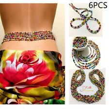 Vintage Beaded Waist Chain Bohemian Summer Women Belt Body Chain Jewelry Bikini