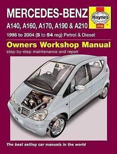 Mercedes-Benz A Class W168 series Repair Manual 1998-2004