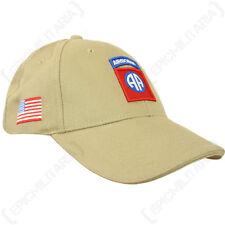 Brown USA WW2 82 Airborne Logo Cappellino-Taglia unica