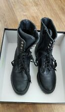 Dune ladies Lace Up Leather Ankle Boots Uk Size 3/ EU36