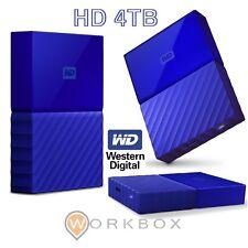 WD 4TB My Passport Hard Disk Esterno Portatile USB 3.0 Blu WDBYFT0040BBL-WESN