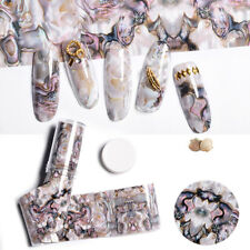 Beauty DIY Marble Shell Design Nail Art Foils Transfer Decals Sticker Decoration
