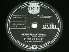 ELVIS PRESLEY : Heartbreak Hotel / All Shook Up - 1958 UK RCA 1088 78rpm 204