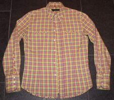 AMK Andrew MacKenzie CHECKERED CAMICIA 80s HEMD SHIRT neon M made in italy