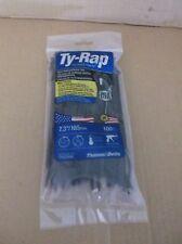 """2 Packs 7.3"""" 100 Ties Per Pack Thomas & Betts Ty-Rap Cable Ties , Uv Black"""