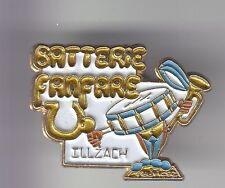 RARE PINS PIN'S .. MUSIQUE FANFARE TROMPETTE BATTERIE TAMBOUR ILLZACH 68 ~DE