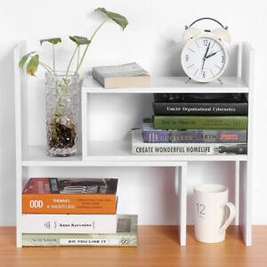 Mini Desktop Bookshelf Freestand Bookcase Home Office Desk Shelf Organiser Rack