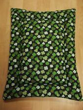 New listing New Cotton Crate Mat Dog Bed Green/Black Shamrock Print 18X24 Handmade