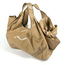 Valentino Garavani Beige PVC Reflective MCM Modern Mod Hobo Bow Shoulder Bag