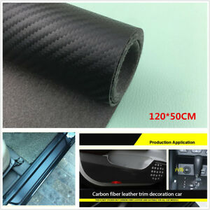 Carbon Fiber Leather Style Scuff Plate Door Sill Cover Car Threshold Step Guard