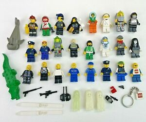 Vintage LEGO MiniFigures Lot of 24 Y2K Ghosts Police Explorers Astronauts Racing