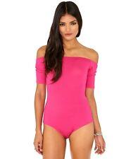 3ebfa8f244a MISSGUIDED Brand Hot Pink Off Shoulder Bodysuit Size 10 BNWT  RE25