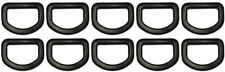 """10 pcs 3/4"""" Centering DEE D Ring DRing - Black Plastic - Shipped from USA"""
