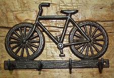 Cast Iron BICYCLE Towel, Coat Hooks,  Hat Hook, Key Rack BIKE RIDER