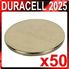 50 x Genuine Duracell 2025 DL2025 CR2025 Coin Cell Batteries