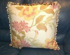 Beacon Hill Throw pillow cover woven fabric bird floral Custom new ONE large