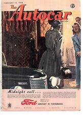 revue automobile: the Autocar: february 13 1948