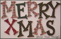 Bo Bunny  *TRADiTiONAL CHRiSTMAS* Chipboard Letters