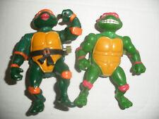 vintage Playmate TMNT LOT 2 Tortues Ninja Turtles action figure WACKY RAPH MIKE