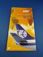 LOT POLISH AIRLINES TIMETABLE SCHEDULE TRAVEL AIRPORT ADVERTISING SUMMER 2000