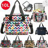 10L Big Thermal Cooler Insulated Tote Lunch Bag Picnic BBQ Storage Box Portable
