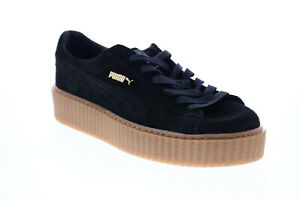 Puma Fenty By Rihanna 36217802 Womens Black Suede Lifestyle Sneakers Shoes 10