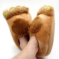 Mens Piedi Grandi Pantofole Pelose Novità Donne Hobbit Piedi Pantofole A Casa L