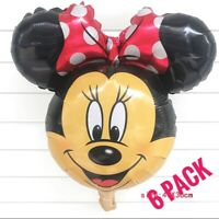 6 Minnie Mouse Party Foil Balloon Air fill Decoration, birthday, baby shower RED