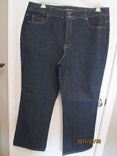 NWOT BANDOLINOBLU Dark Blue Embellished JEANS PANTS 20W Plus