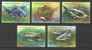 VIETNAM 2019 MEKONG RIVER FISH COMP. SET OF 5 STAMPS MINT MNH UNUSED CONDITION