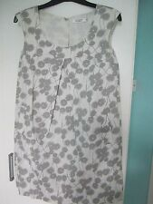 COMPTOIR DES COTONNIERS Shift Robe Avec Poches, gris & blanc, taille 10.