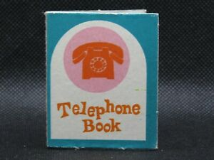 Vintage 1964 Mattel Barbie Doll #4095 Dream Kitchen Dinette Phone Telephone Book
