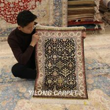 Yilong 1.9'x2.9' Classic Handmade Silk Area Rug Classic Hand Knotted Carpet 0403