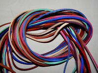 """13 pcs Colored Microfiber Suede Laces (for crafting) 1/8"""" thick x 5' long  #4354"""