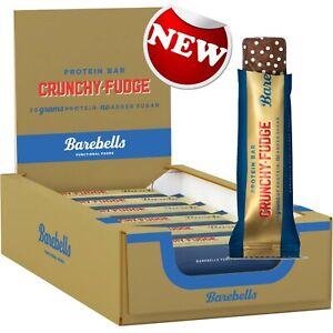 Barebells Crunchy Fudge Protein Bar High Protein Box 12 x 55g