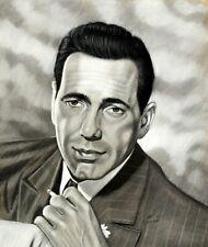 "Gary Adelman, ""Humphrey Bogart"", 19x23, Pastel, Original, Hollywood"