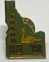 Vintage 1991 Idaho Ducks Unlimited DU Hunting Club Lapel Hat Pin