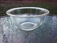 """Vtg Corning Pyrex Clear Glass 1L Nesting Serving Mixing 7"""" Bowl #322 Oven"""