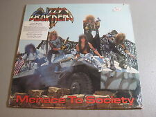 Lizzy Borden- Menace To Society- LP 1986 Enigma/ Metal Blade ST-73224 Sealed