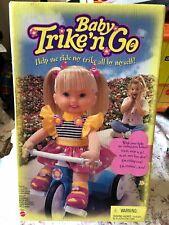 VINTAGE NRFB, SEALED BOX MATTEL BABY TRIKE AND GO DOLL ON HER MOTORIZED TRIKE
