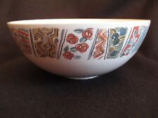 """RETRO HORNSEA POTTERY 'PAYSANNE' 9.5"""" FOOTED FRUIT/MIXING BOWL c.1989 EX"""