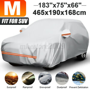 15ft Universal Fit Full Car Cover Breathable UV Rain Dust Resist SUV Protection