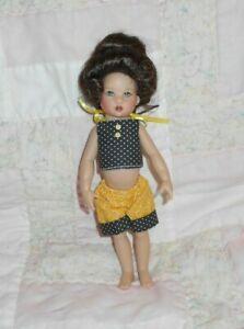 PlayHouse GIBSON Doll Wig Size 5/6 DARK BROWN Old Fashion Bun Style  NWT