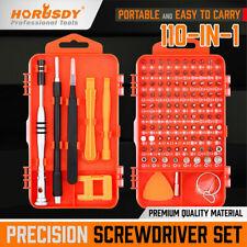 110PC Precision Screwdriver Set Phillips Torx Bits Non-Slip Magnetic Electronics