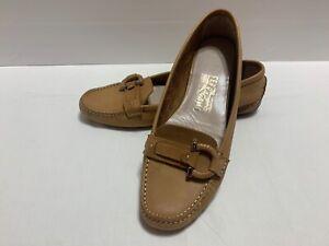 Salvatore Ferragamo Brown Leather Loafers / Moccasins Size 8 B - SL 5058