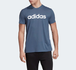 Adidas Training Tee Mens XL New Blue Climalite Stay Dry D2M Soft Logo T Shirt
