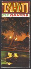 Qantas vintage travel brochure – TAHITI French Polynesia