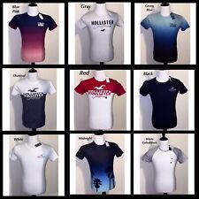 NWT Men's Hollister Tee Sz Small, X-Small Red Black Gray Blue White T-Shirt
